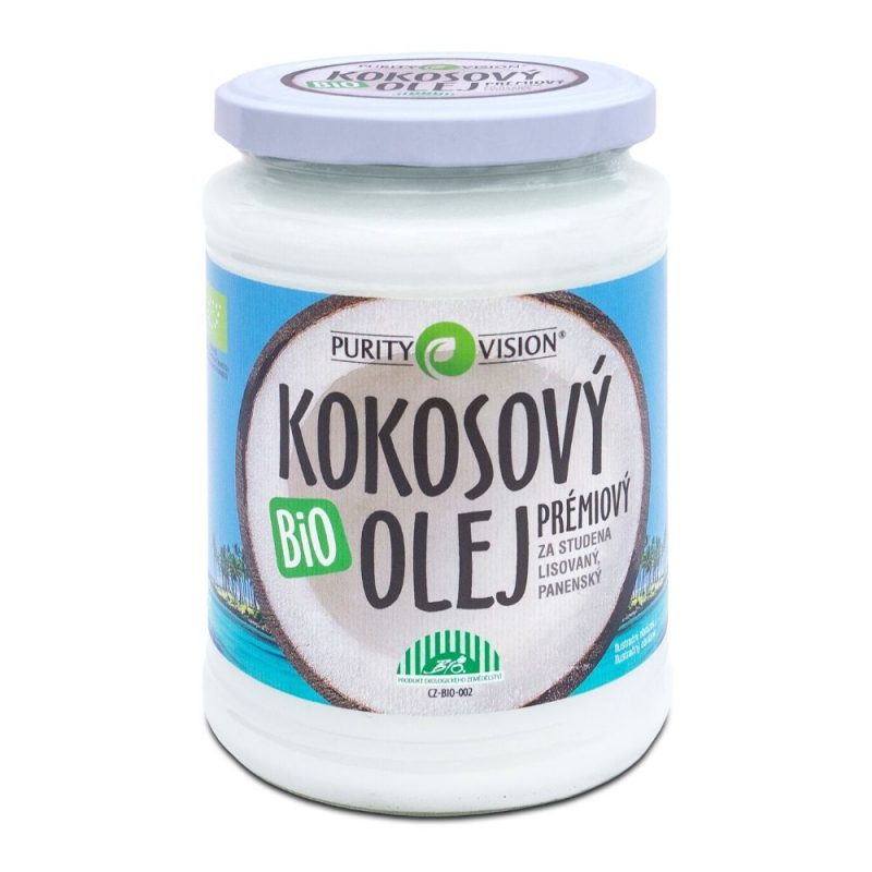 PURITY VISION Fair Trade Bio Kokosový olej panenský 600 ml